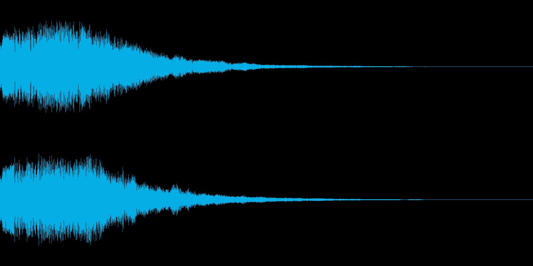 シーン切り替え シンセサイザー3の再生済みの波形