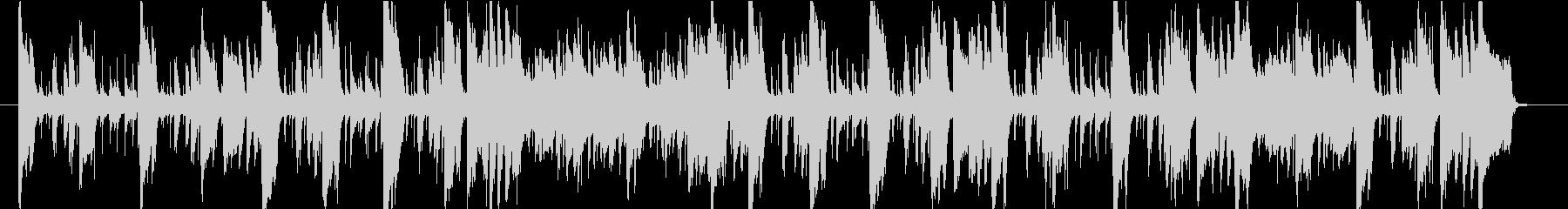 ブラスとピアノの軽快なジャジーTUNEの未再生の波形