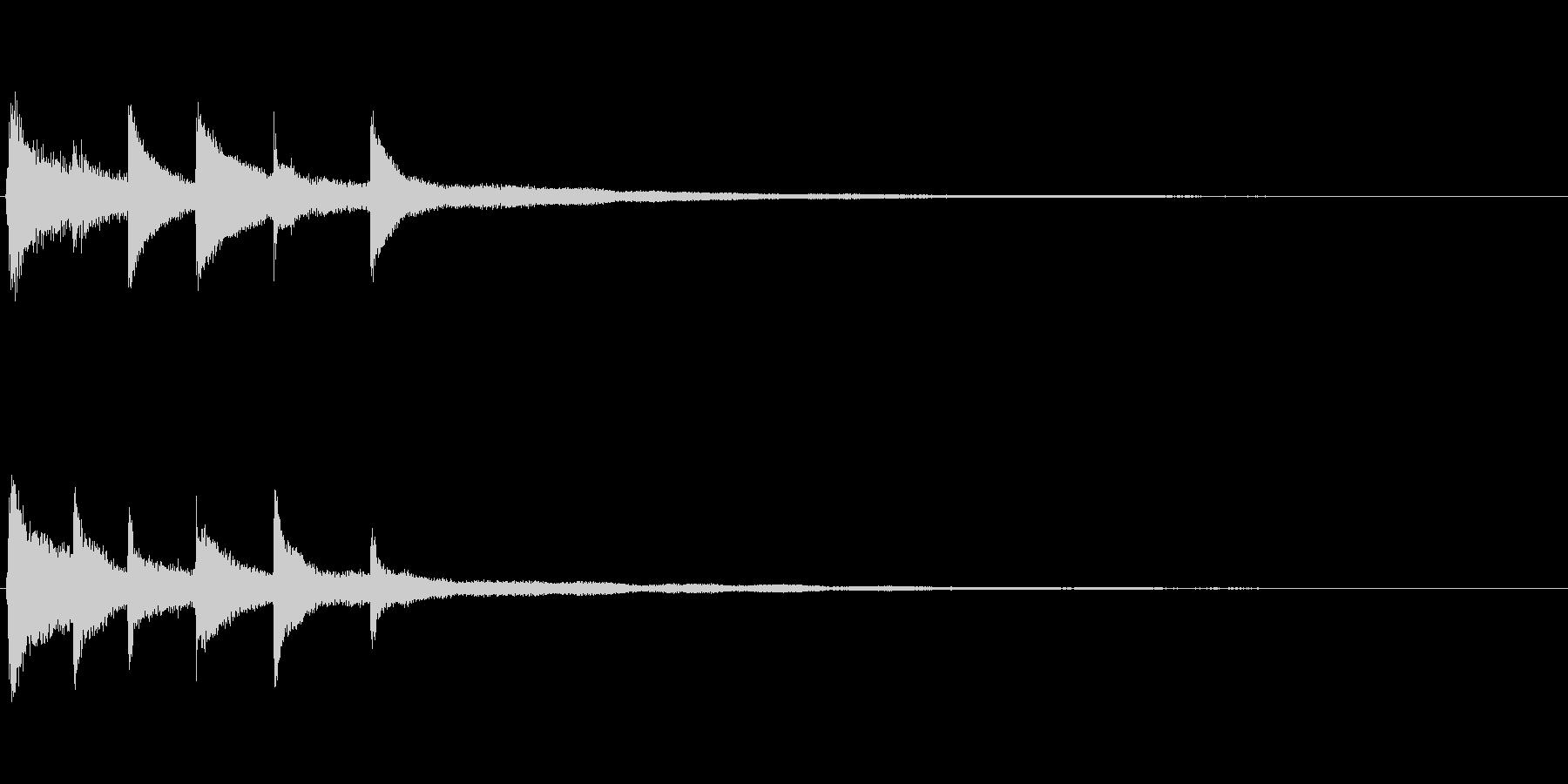 ピアノソロサウンドロゴ 優雅 大人 11の未再生の波形