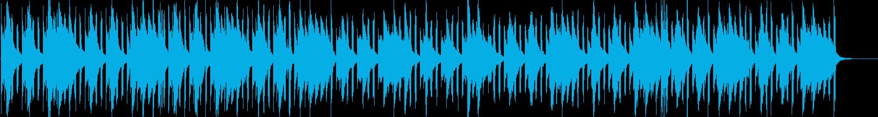 ほのぼのと呑気な落ち着いたBGMの再生済みの波形