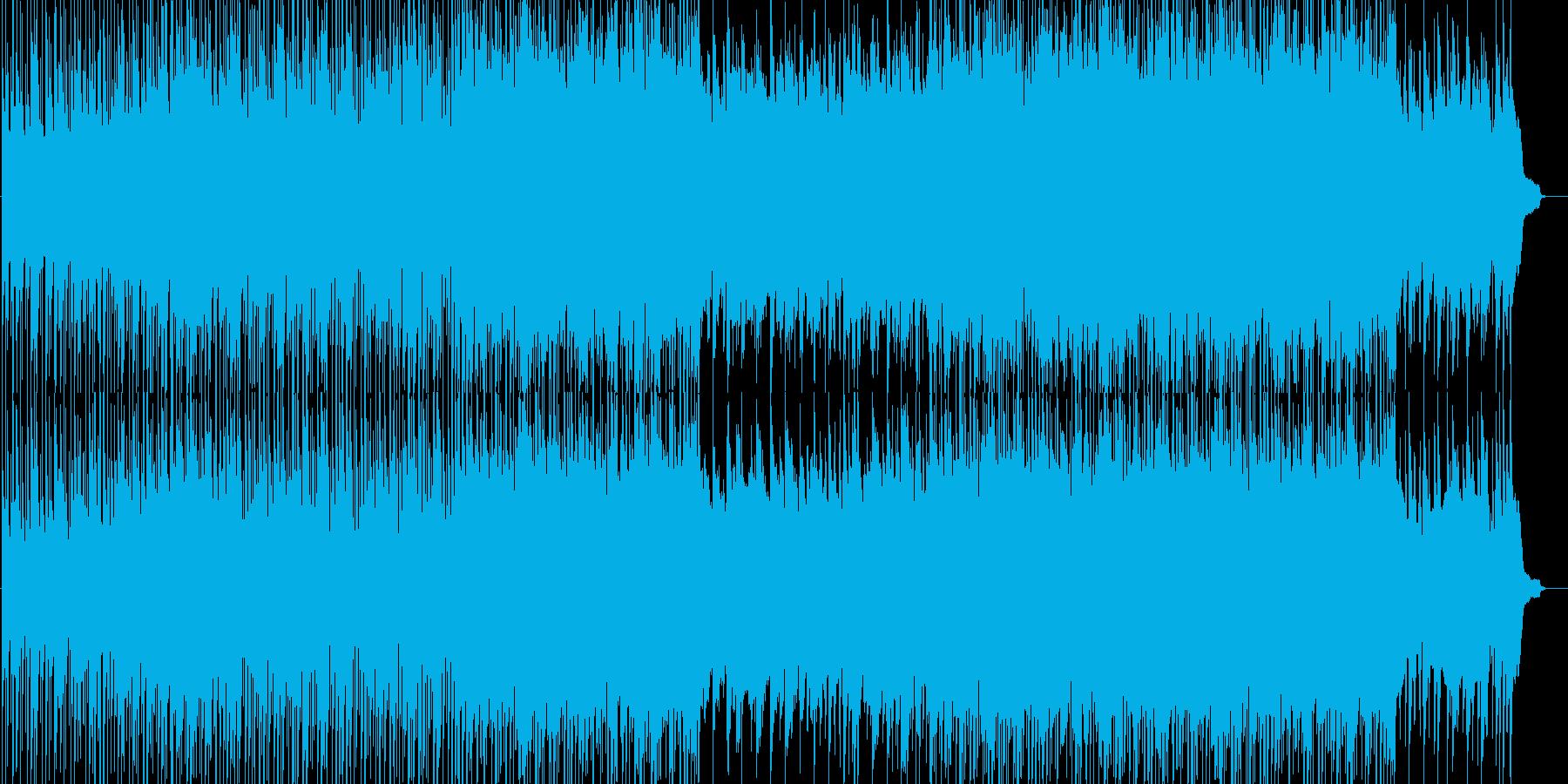 明るく活動的なイメージのBGMの再生済みの波形
