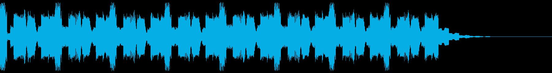 【キッズ向け】ピコピコBGM、かわいい音の再生済みの波形