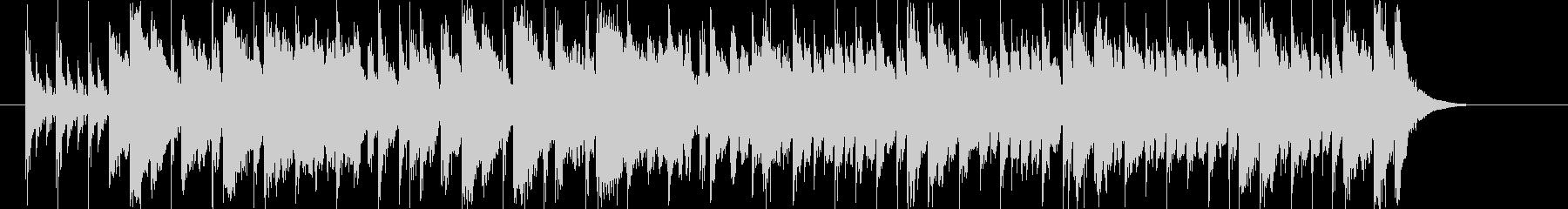 ストリングスによる明るいマーチの未再生の波形