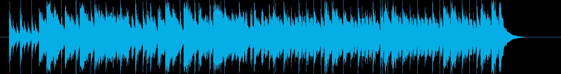 ストリングスによる明るいマーチの再生済みの波形