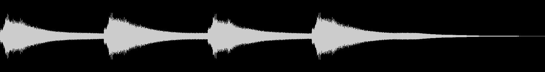 カーンカーンと鐘をつく効果音の未再生の波形
