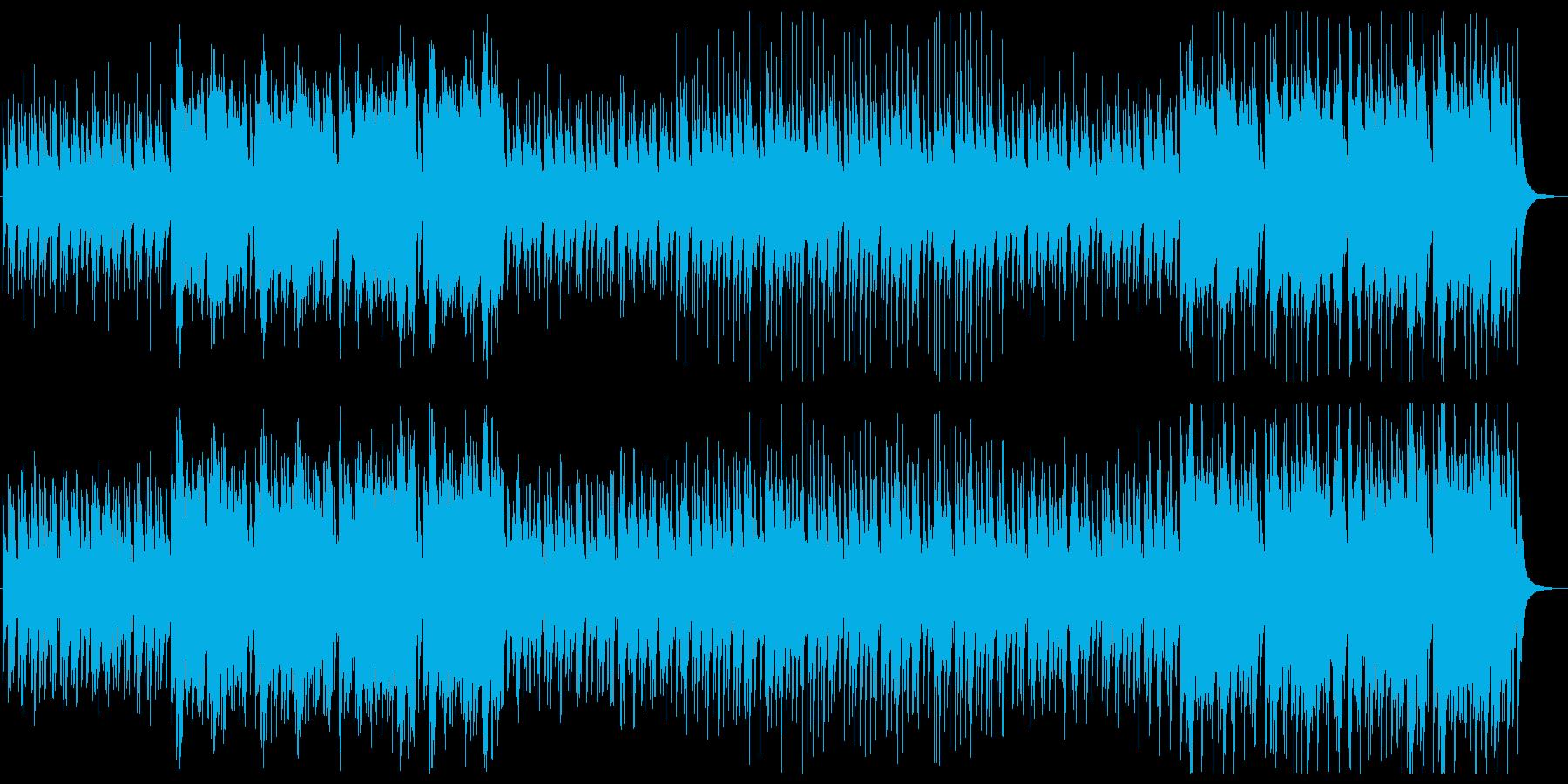 太鼓・笛・三味線によるお祭り的和風楽曲の再生済みの波形