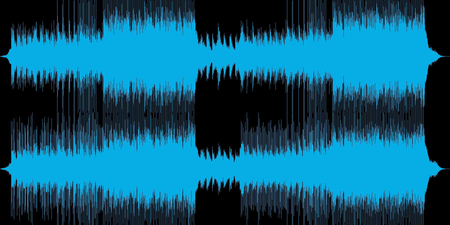 洋楽風 爽やか おしゃれ曲の再生済みの波形