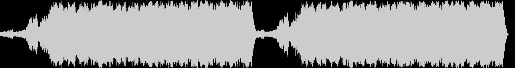 廃墟をイメージした儚い系ノイジーなBGMの未再生の波形