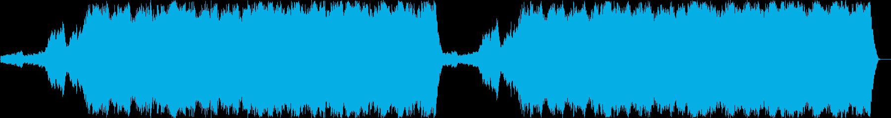 廃墟をイメージした儚い系ノイジーなBGMの再生済みの波形