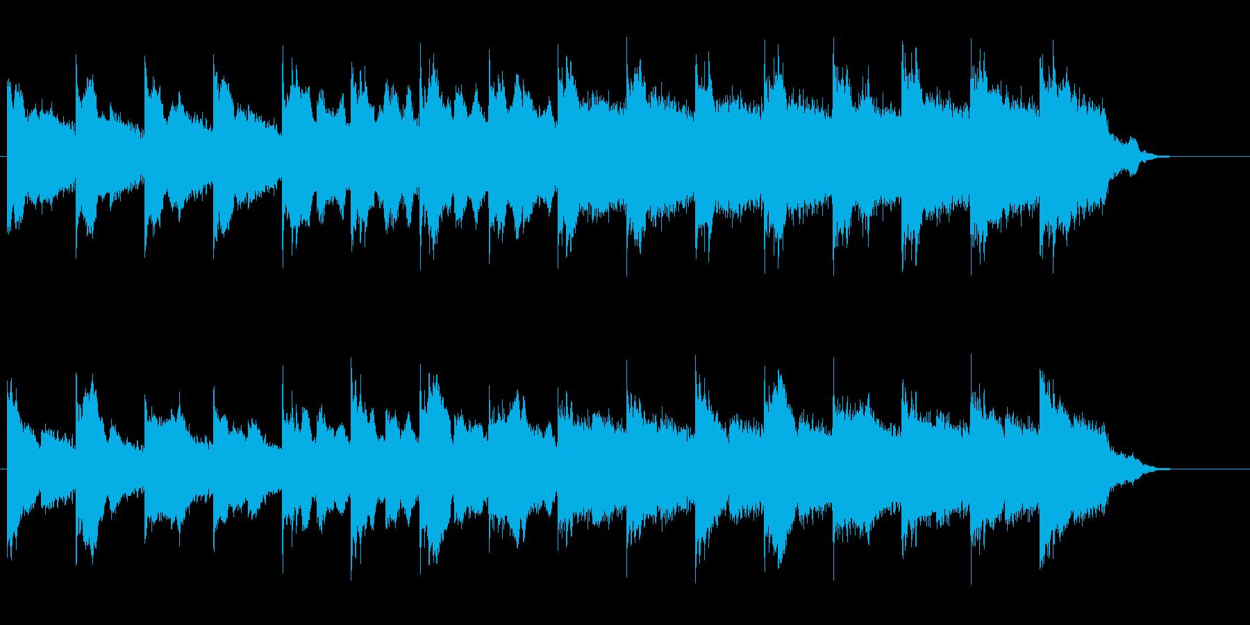 無機質でメタリックなドキュメント向けの再生済みの波形