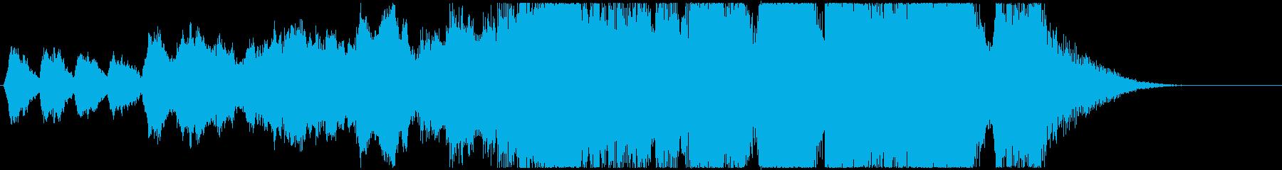 煌びやかな雰囲気のファンファーレ!の再生済みの波形
