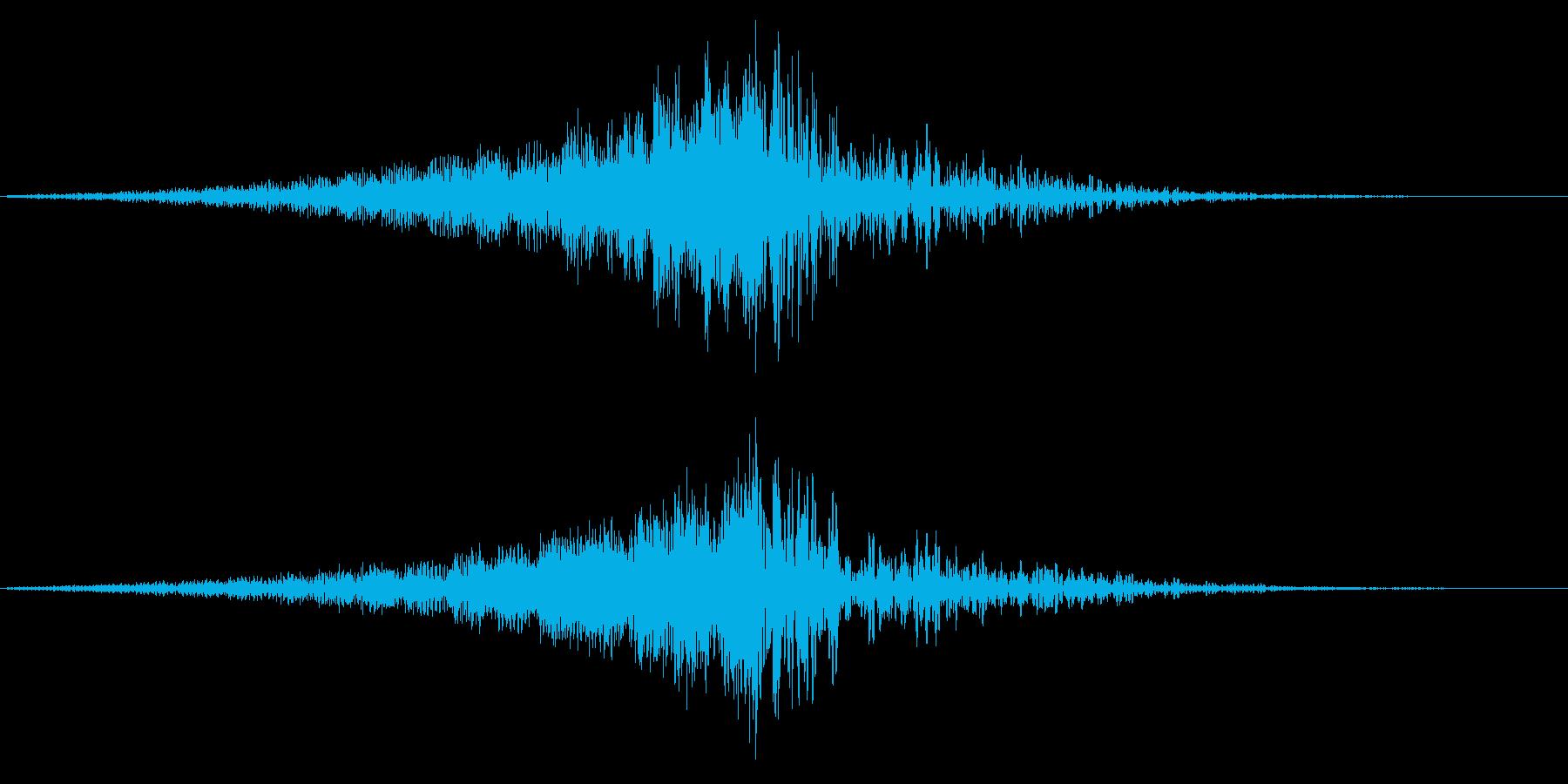 ホラー系アタック音119の再生済みの波形