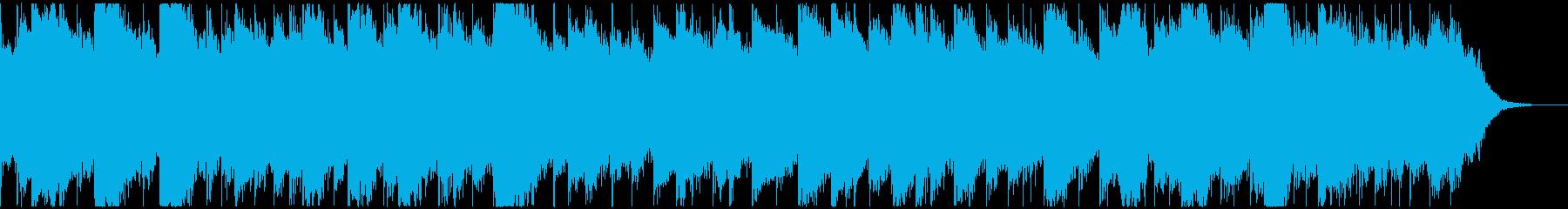 宇宙人の交信のような歪んだ金属音の再生済みの波形