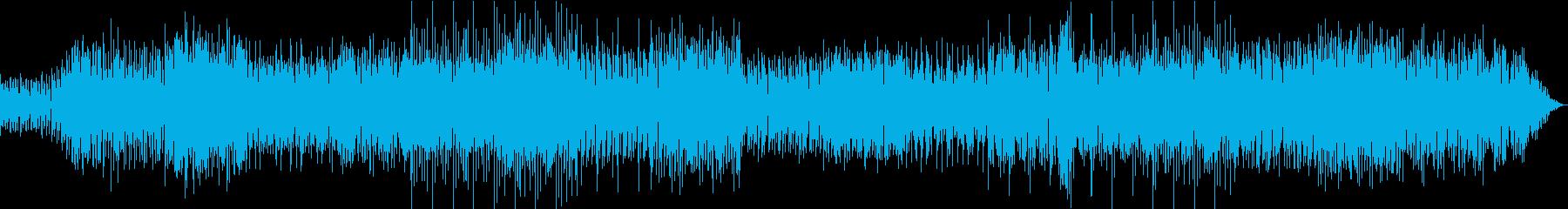 怪しい雰囲気のエレクトロミュージックの再生済みの波形