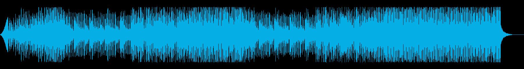 前向きで透明感のあるトロピカルハウスの再生済みの波形