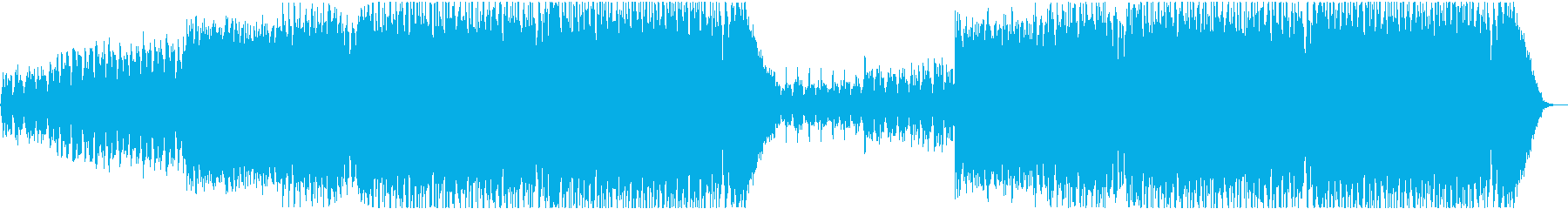 Cheerful and brave EDM's reproduced waveform