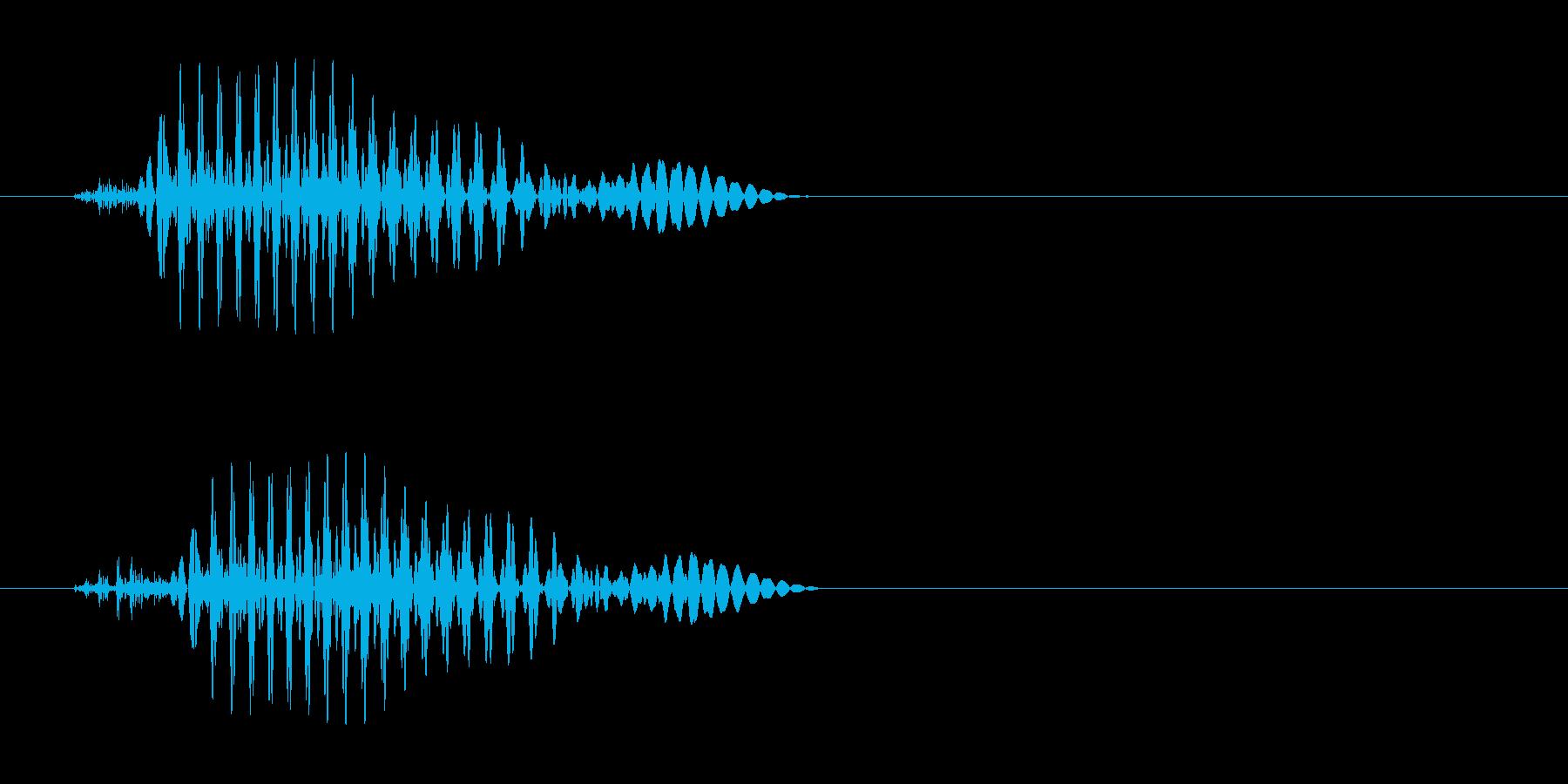 少し変わったジャンプ音の再生済みの波形