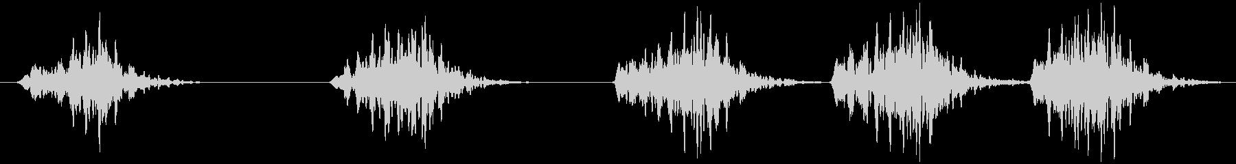 コオロギ キリキリ…キリキリキリの未再生の波形
