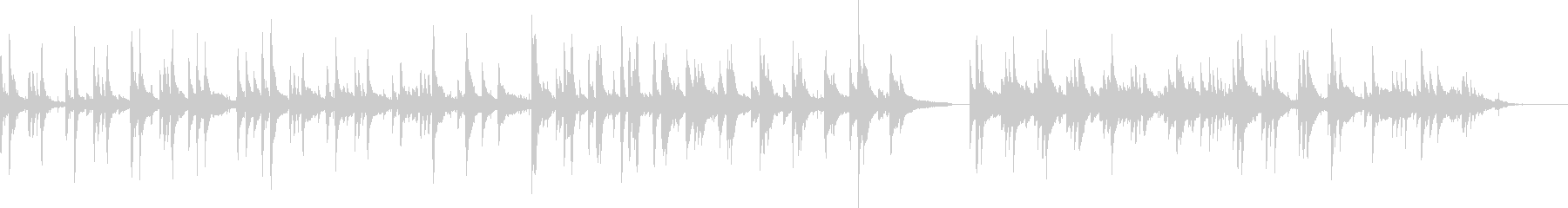 ハードボイルド・バー(ピアノ)の未再生の波形