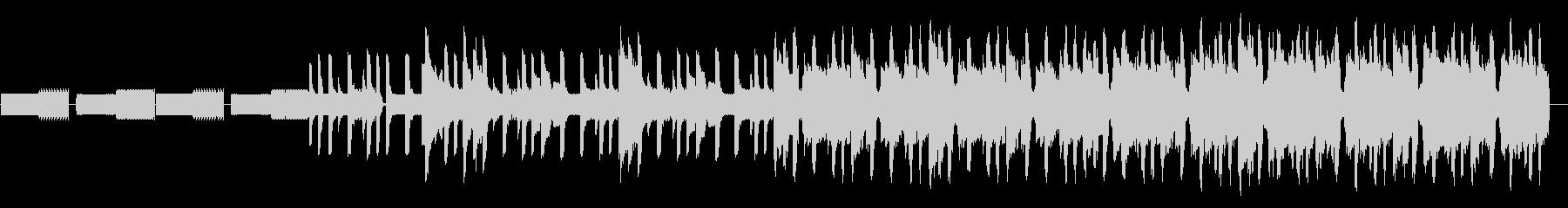 8bitリフのループとコミカルなシンセの未再生の波形