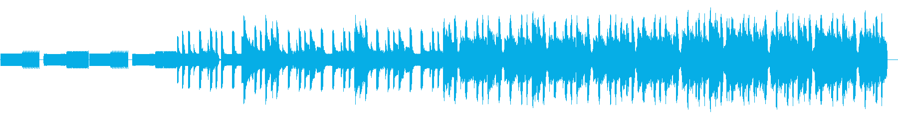 8bitリフのループとコミカルなシンセの再生済みの波形