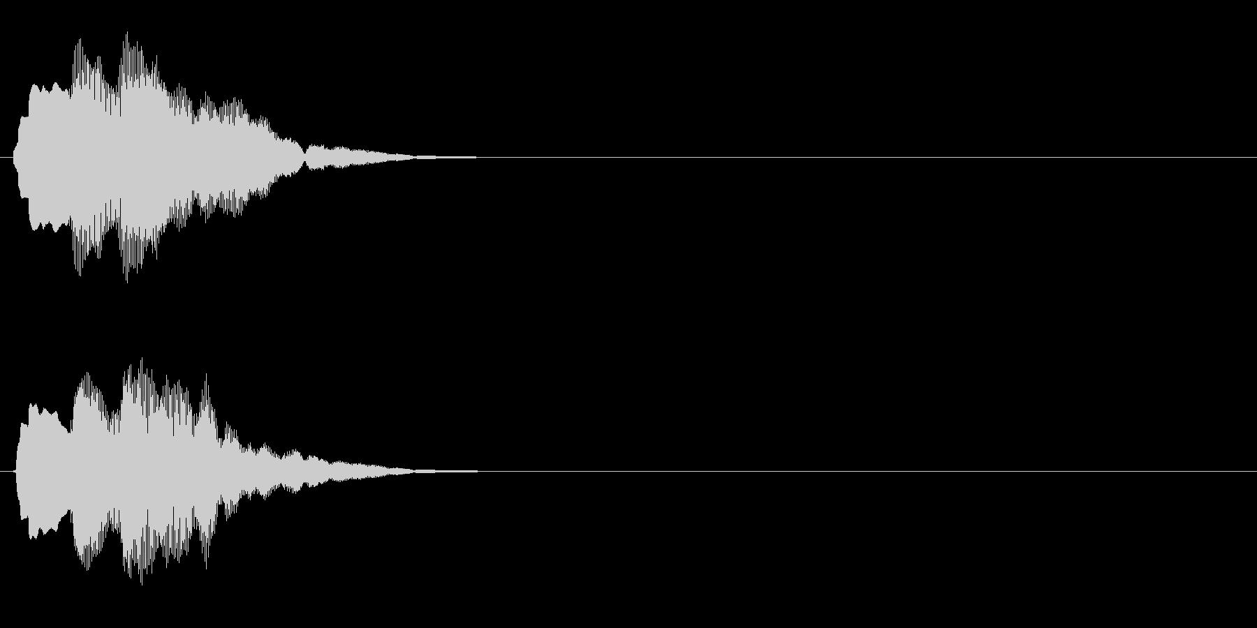 汎用 キラキラ系04(中) 決定音の未再生の波形