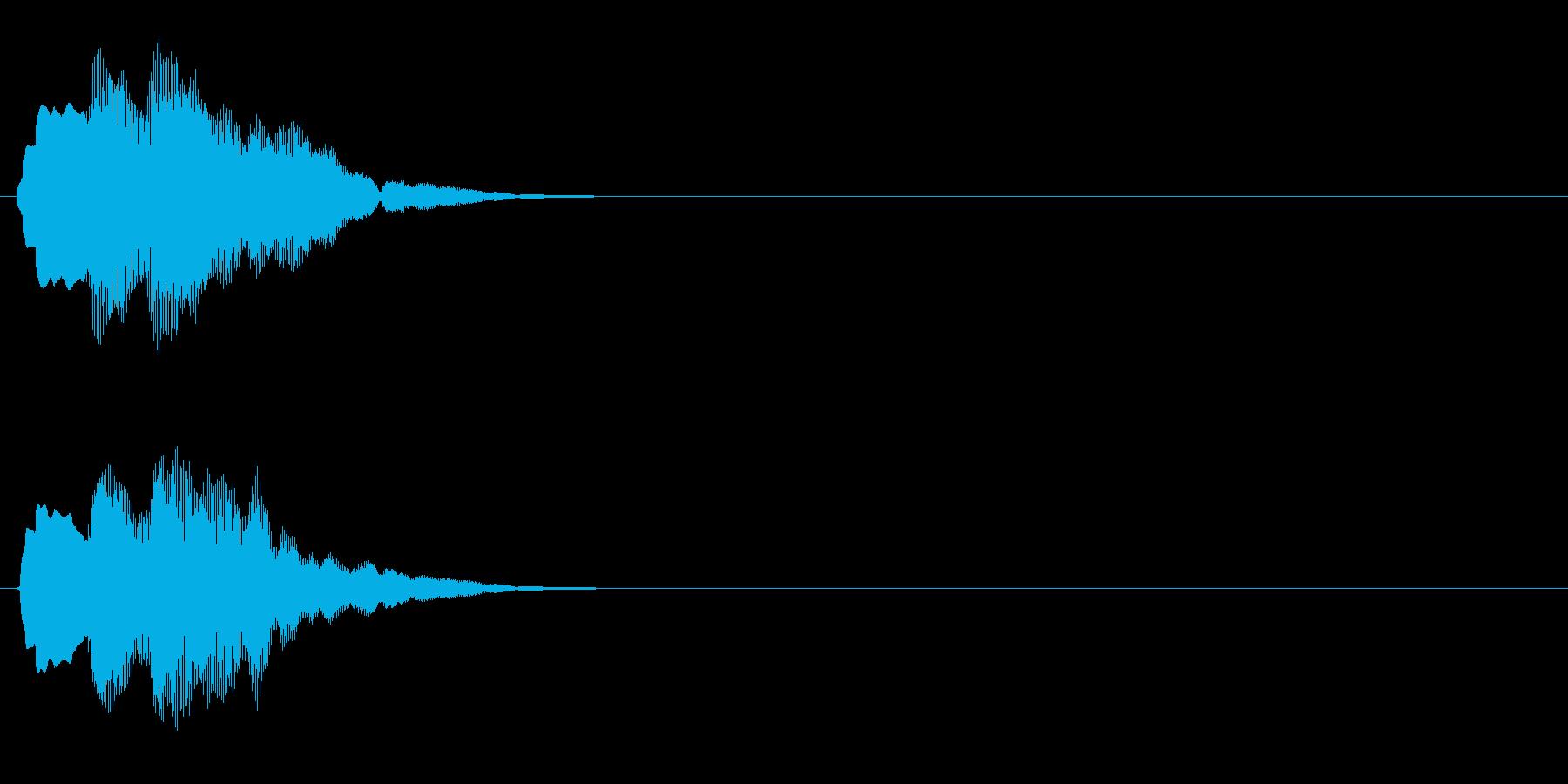 汎用 キラキラ系04(中) 決定音の再生済みの波形