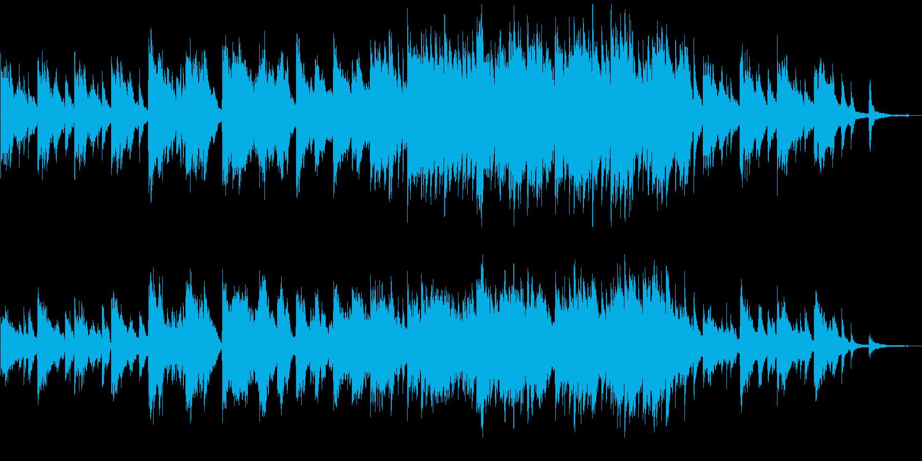 優しいピアノとストリングス曲の再生済みの波形