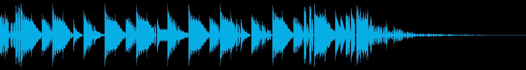 160 BPMの再生済みの波形