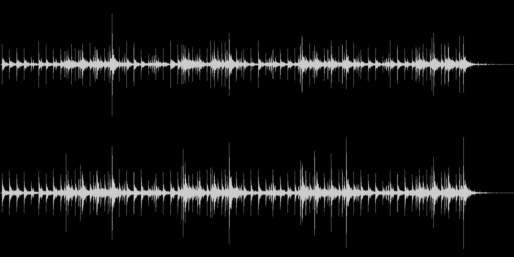 考え中の音楽の未再生の波形