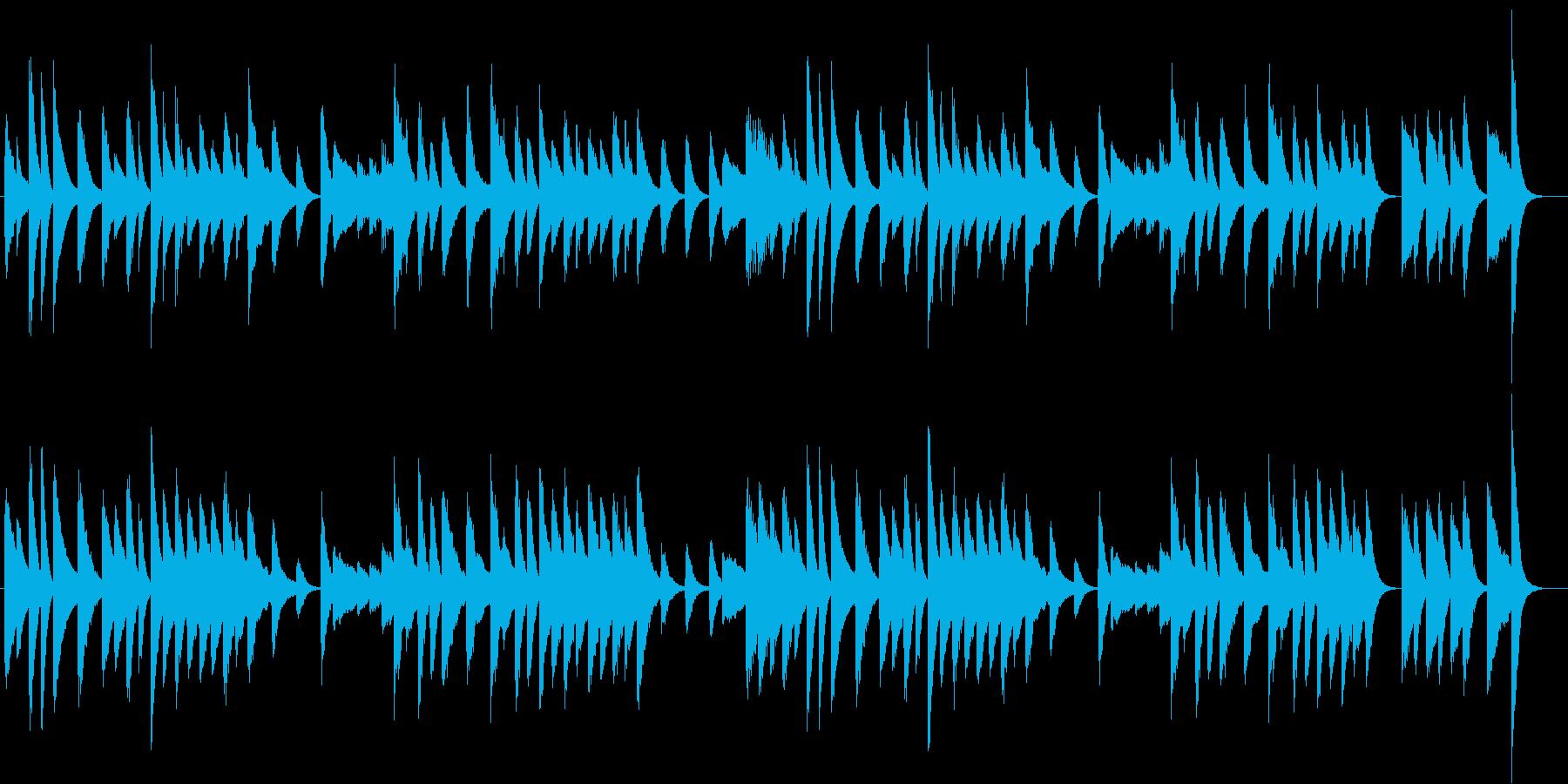 料理動画に♪穏やかで優しいピアノジングルの再生済みの波形