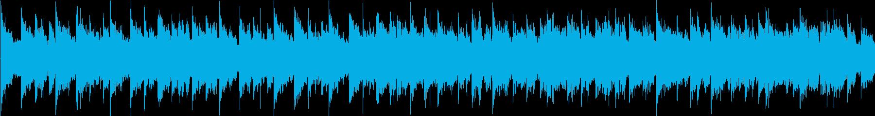 ほのぼのした雰囲気のゲーム向けループ曲の再生済みの波形
