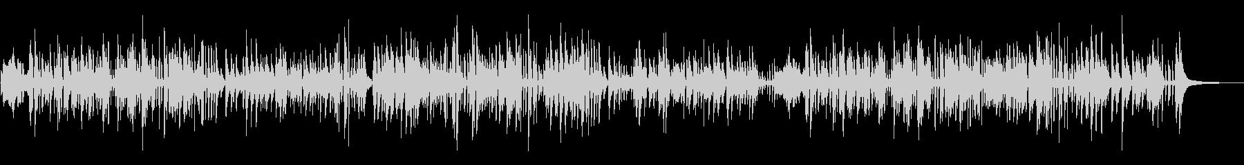 しっとりとしたジャズピアノの未再生の波形