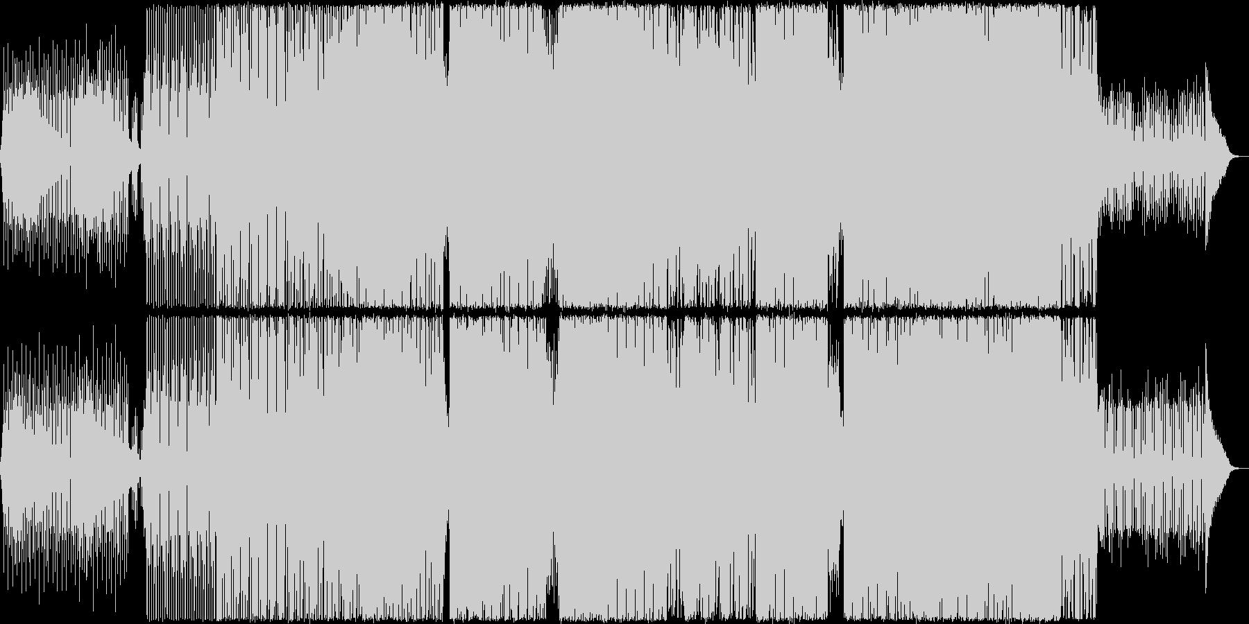 淡々としたシンセ、パーカッションBGMの未再生の波形