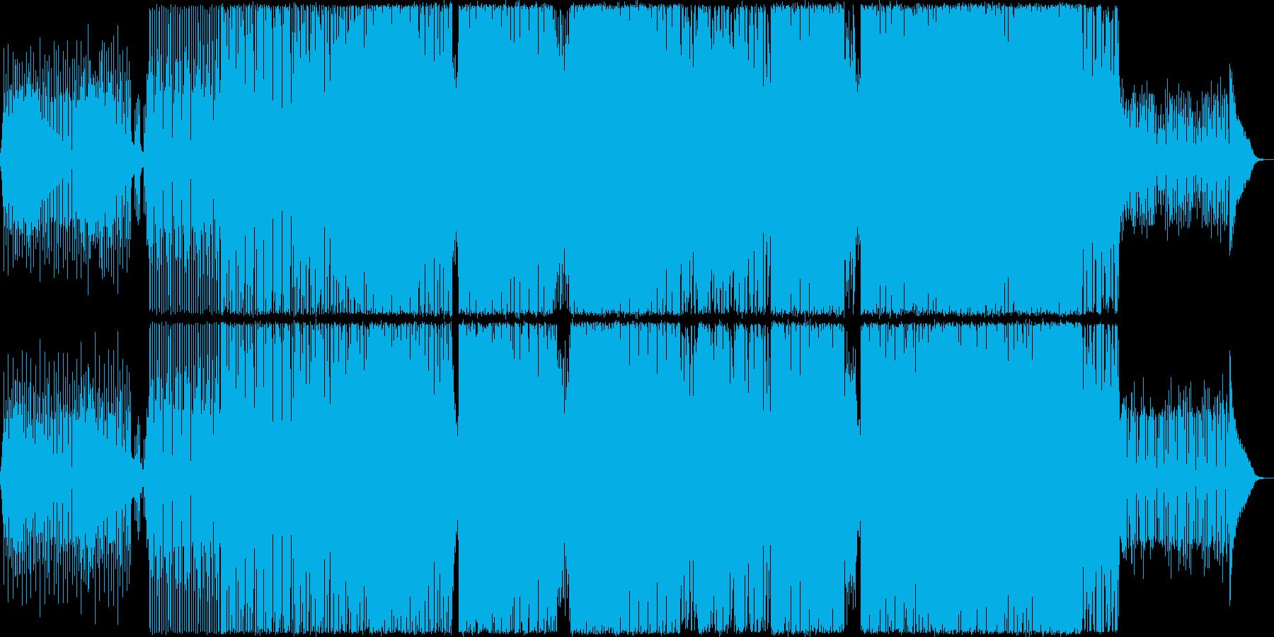 淡々としたシンセ、パーカッションBGMの再生済みの波形