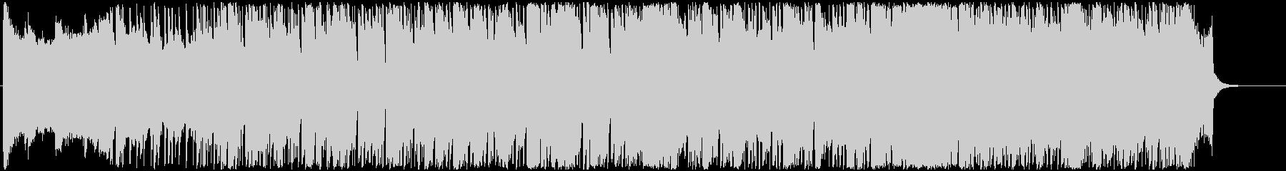 軽快なリズムで明るいBGMの未再生の波形