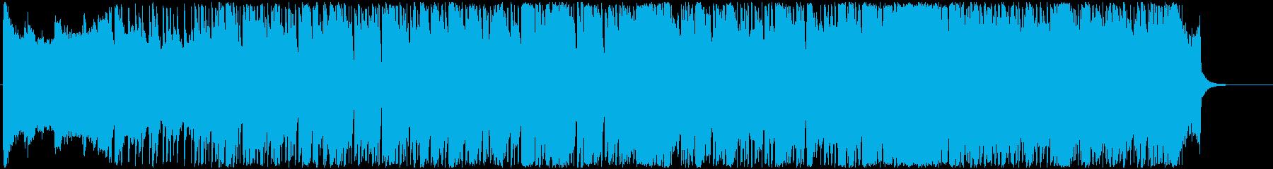 軽快なリズムで明るいBGMの再生済みの波形