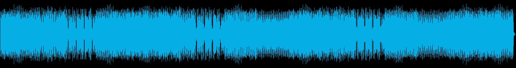 モダンなドラムビートとアグレッシブ...の再生済みの波形