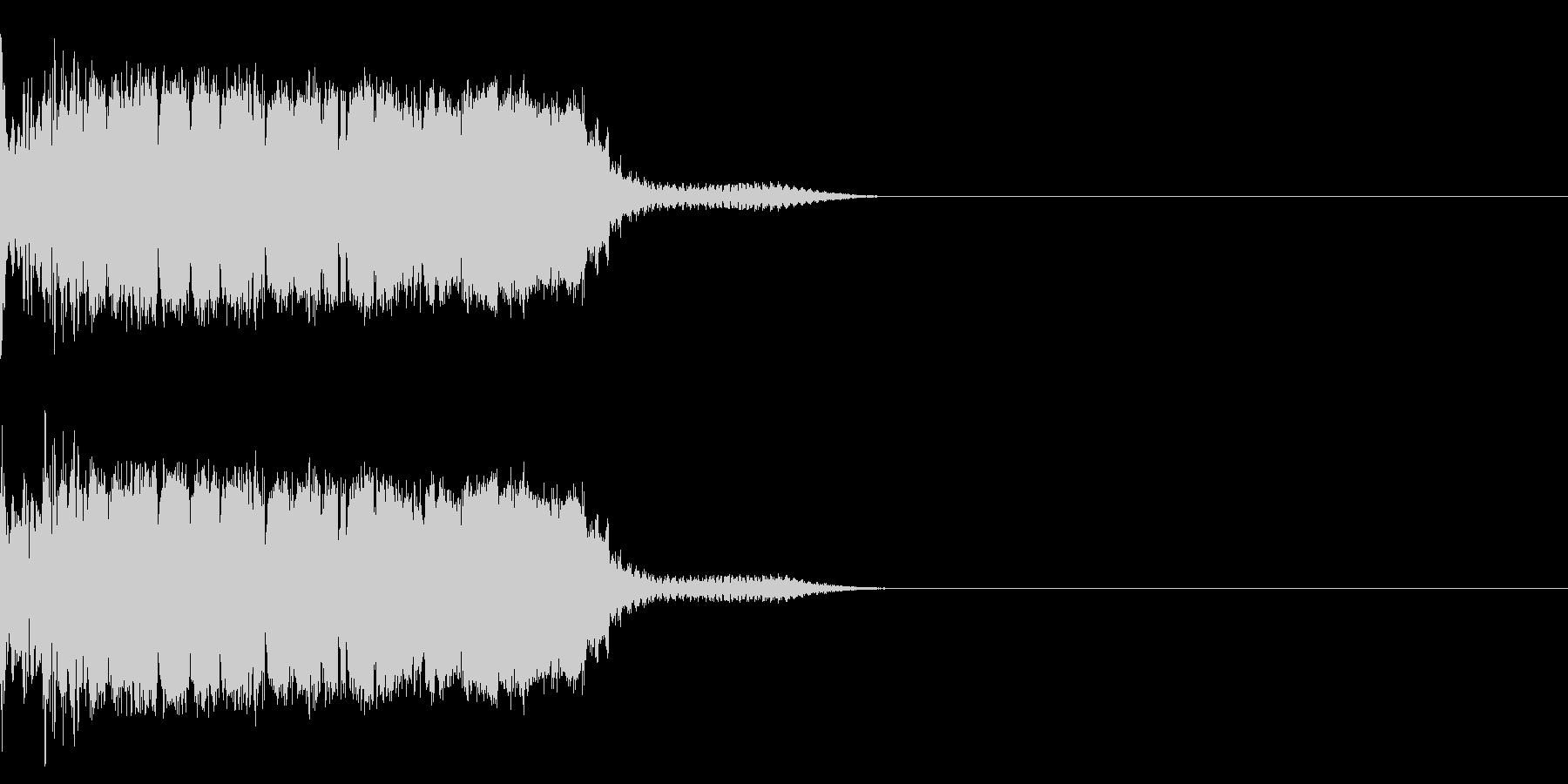衝撃 金属音 恐怖 震撼 ホラー 40の未再生の波形