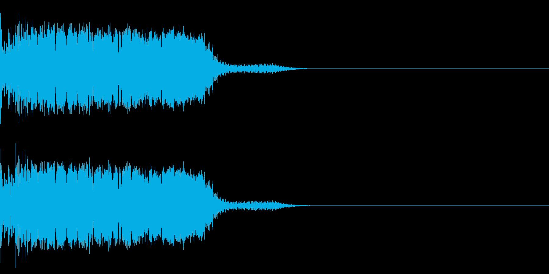 衝撃 金属音 恐怖 震撼 ホラー 40の再生済みの波形