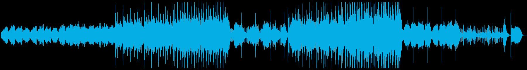 ゆったりと壮大な和風曲の再生済みの波形