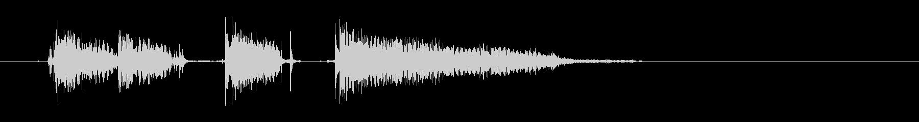 エレキギター(ファンキー1)の未再生の波形