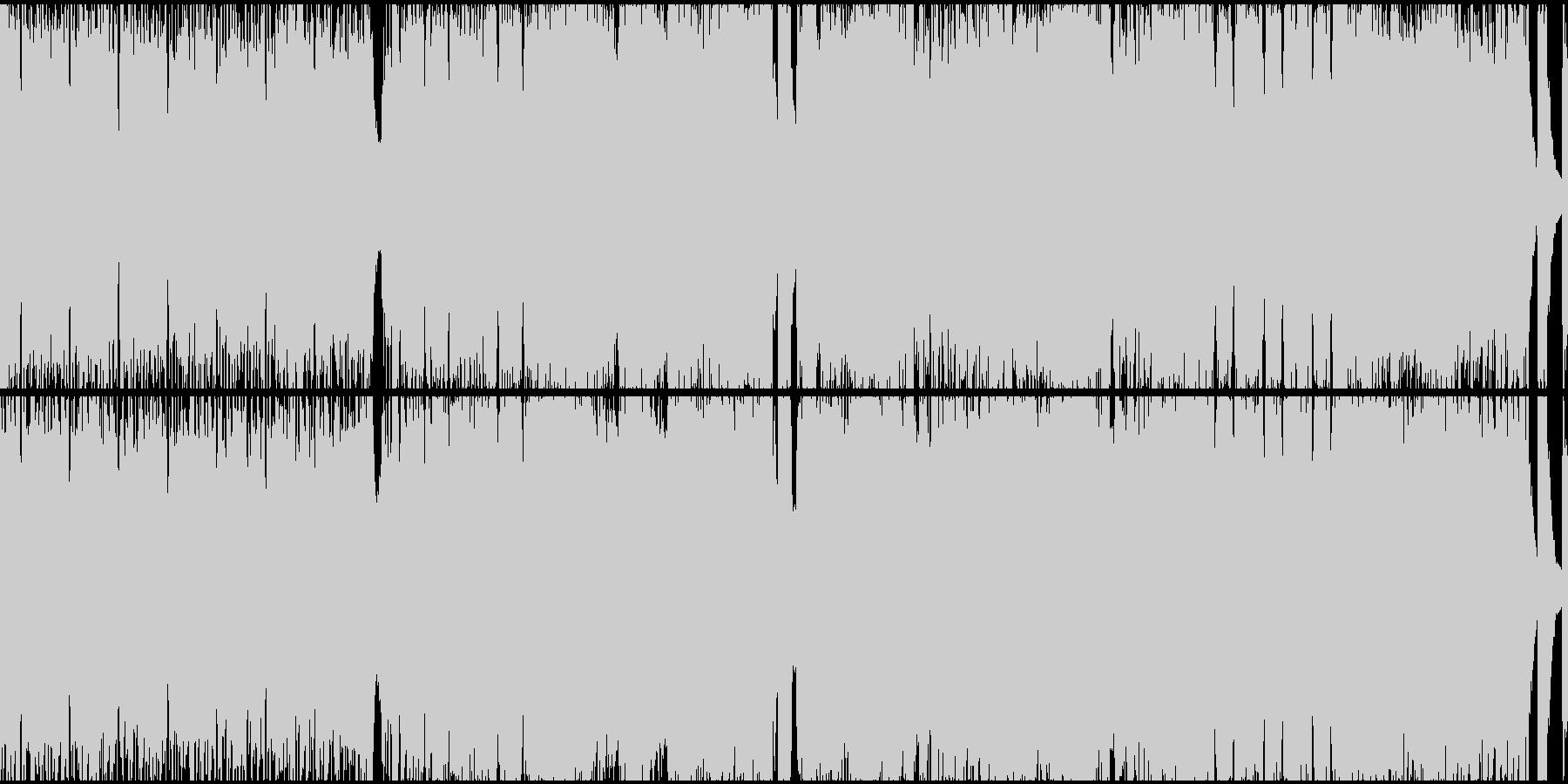 アップテンポな戦闘曲(ループ)の未再生の波形