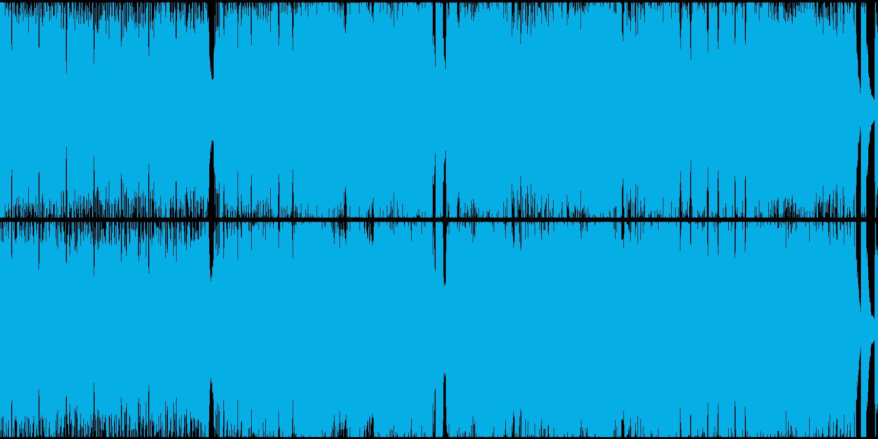 アップテンポな戦闘曲(ループ)の再生済みの波形