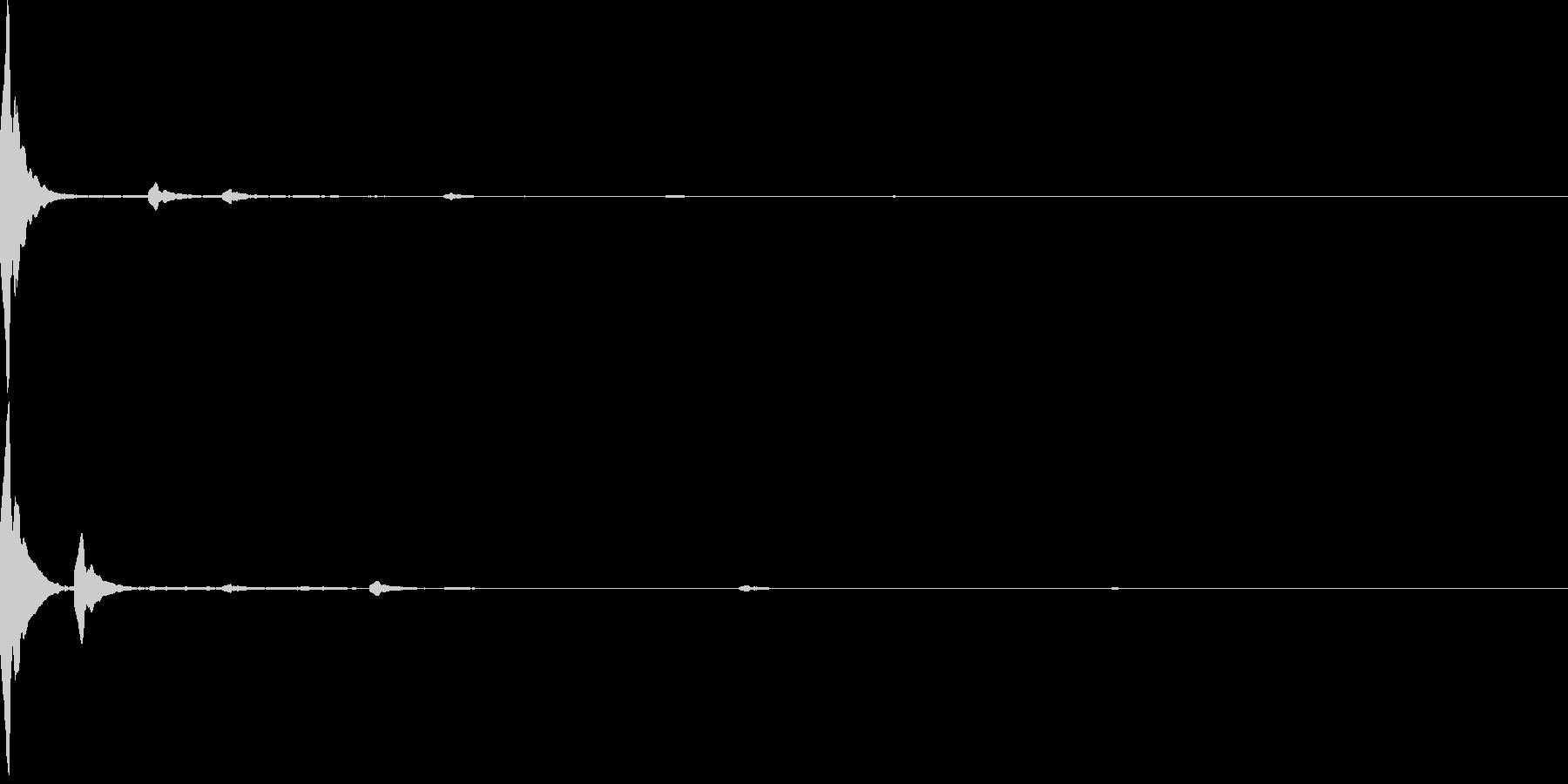 電子音 選択時の効果音の未再生の波形