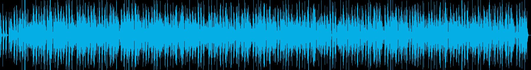 川のせせらぎを描写した和風音楽の再生済みの波形
