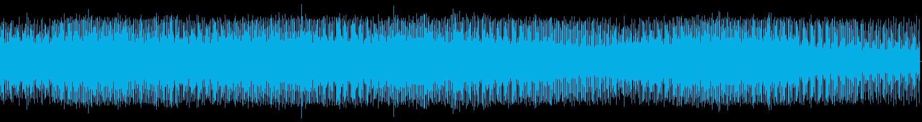 次から次へと移り変わるシーンでのBGMの再生済みの波形