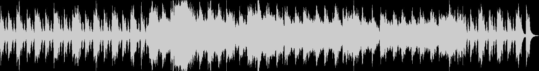 オーケストラでの決然とした印象のBGMの未再生の波形