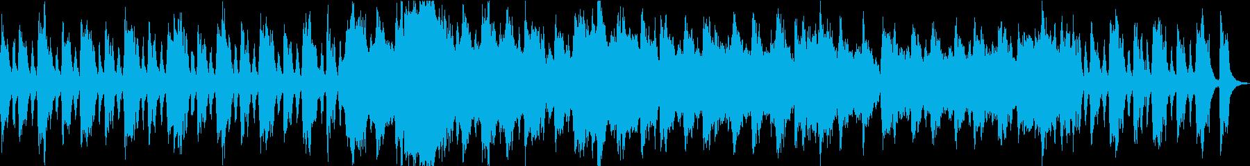 オーケストラでの決然とした印象のBGMの再生済みの波形