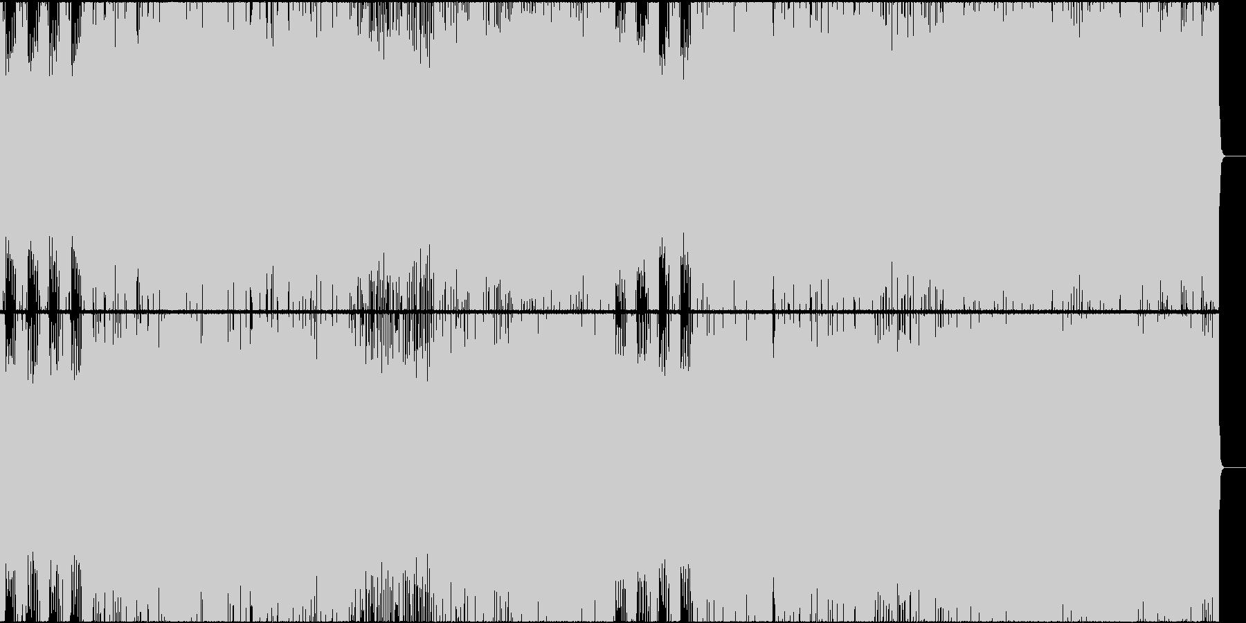バトル系の緊張感のあるデジタル・ロックの未再生の波形